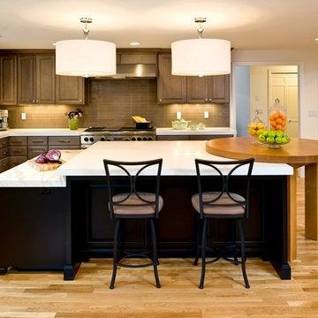 Contemporary Gray North Albany Kitchen