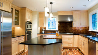 Contemporary Green Kitchen & Soapstone Countertops