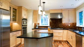 Contemporary Green Kitchen & Soapstone Countertops
