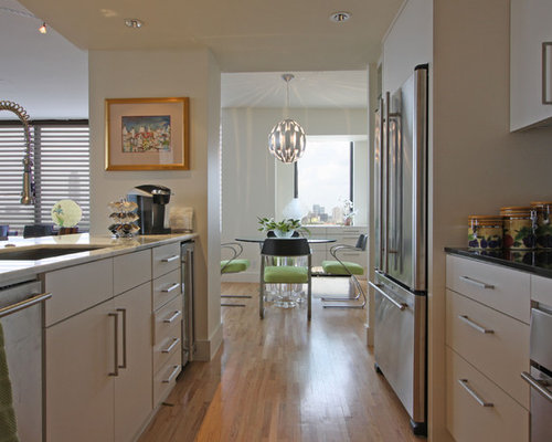 Open galley kitchen home design ideas pictures remodel for Galley kitchen open to dining room