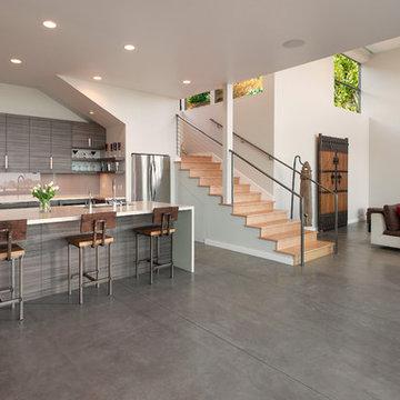 Contemporary Hillside Home