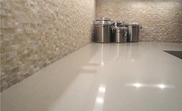 Contemporary Kitchen by Cercan Tile Inc.