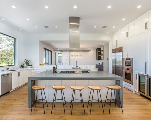 Contemporary kitchen designs  Inspiration for a contemporary u shaped medium tone wood floor and 25 Best Kitchen Ideas Designs Houzz