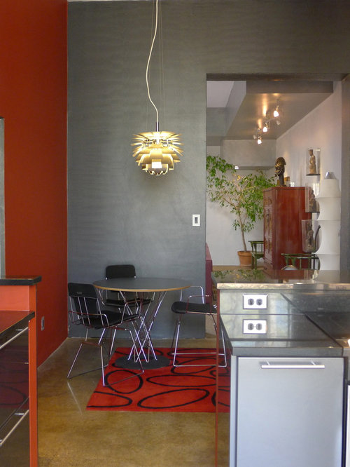Eat In Kitchen   Modern Eat In Kitchen Idea In Indianapolis With Flat