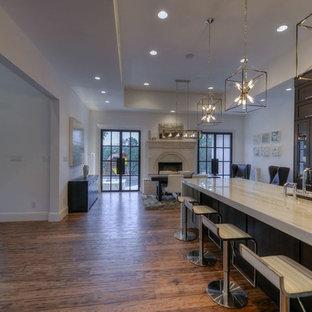 Example of a minimalist kitchen design in Austin