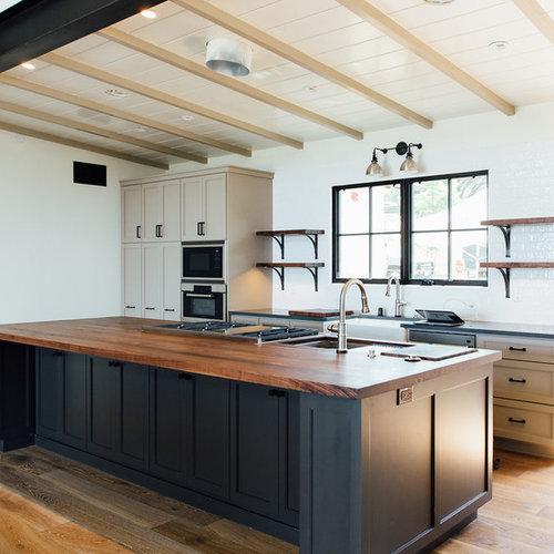 cuisine parall le craftsman photos et id es d co de cuisines. Black Bedroom Furniture Sets. Home Design Ideas