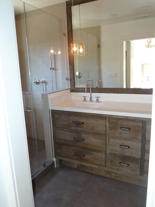 Distressed Wood Vanity Home Design Ideas Pictures