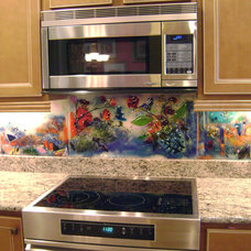 Eclectic Kitchen by Designer Glass Mosaics