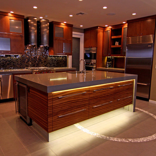 Inspiration For A Contemporary Kitchen Remodel In Phoenix With Stainless  Steel Appliances