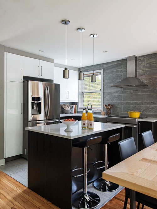 Contemporary kitchen and dining room by kim lapointe for Kitchen design montreal