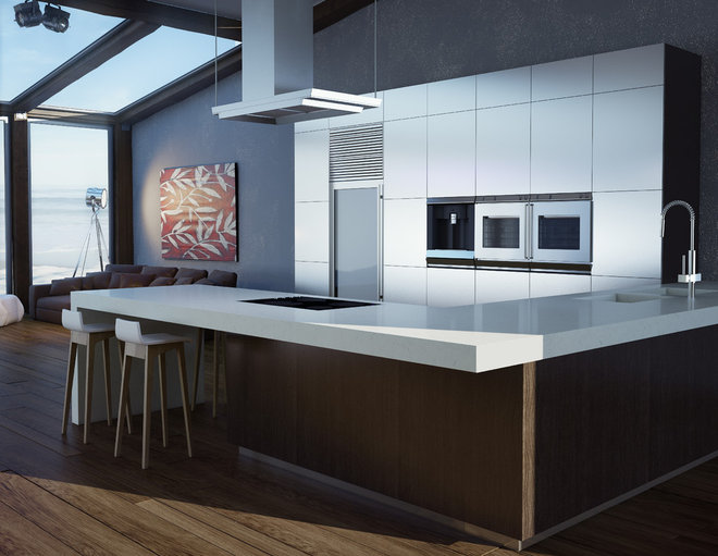 Contemporary Kitchen by Caesarstone