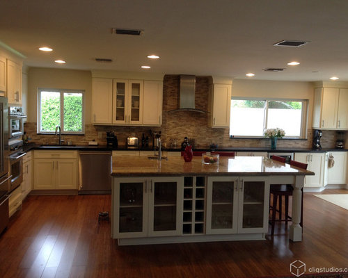 Off white kitchen houzz for Kitchen cabinets 50 off