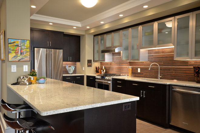 Contemporary Kitchen by Conestoga Valley Custom Kitchens Inc.