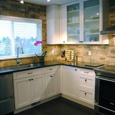 Contemporary Kitchen by Corey Klassen Interior Design