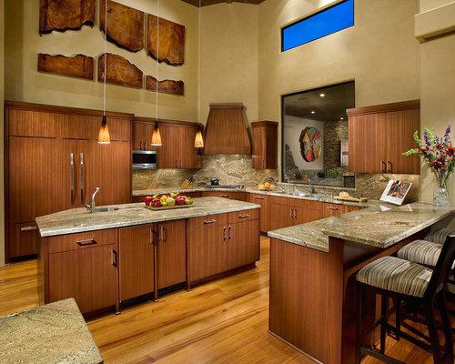 Trendy Kitchen Photo In Phoenix With Granite Countertops