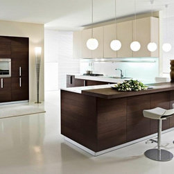 """CONTEMPORARY KITCHEN DESIGN PEDINI SAN DIEGO - """"Magika"""" is available with handless channel opening via an aluminum profile or with vertical handles. Front finishes include textured melamine with matching edges ( grey oak, dark brown pine, teak, white, red, cream, and dark grey) and a glossy white lacquer. Aluminum profiles and plinths are available in white, gray, black, and matte silver."""