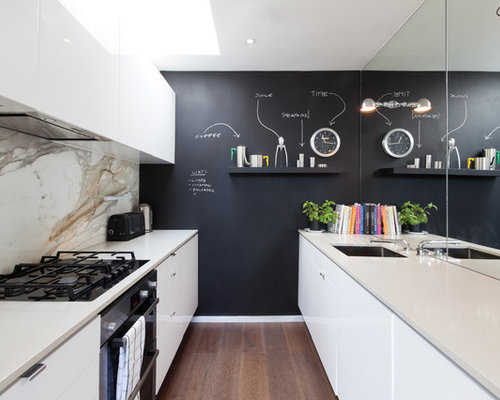 Black feature wall houzz for Kitchen ideas w2 5sh