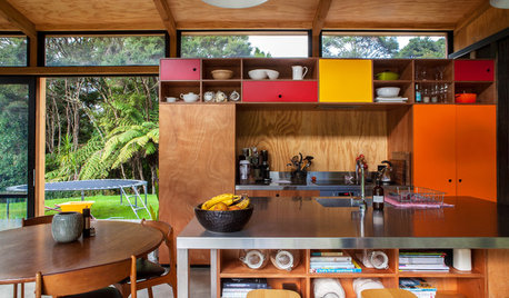 Super Cool Idea: Colourful Kitchen Cabinets, Auckland