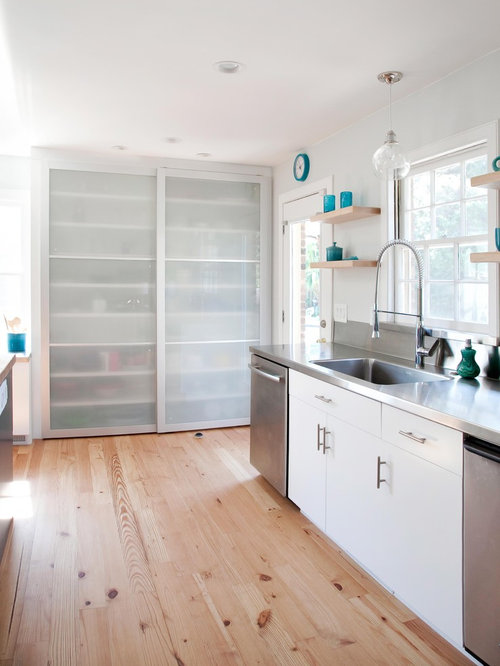 Sliding doors to butlers pantry houzz for Sliding pantry doors