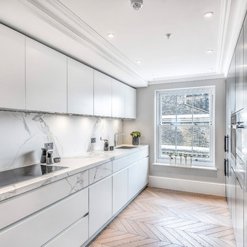 Contemporary kitchen for Kensington Apartment