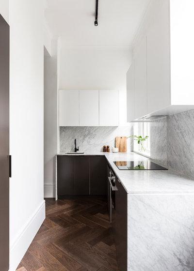Trendy Køkken Contemporary Kitchen