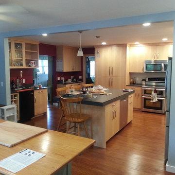 Contemporary Kitchen; Hartford, VT