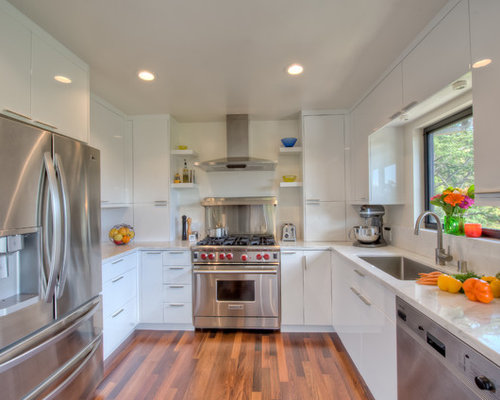 Small white kitchens for Houzz small kitchens