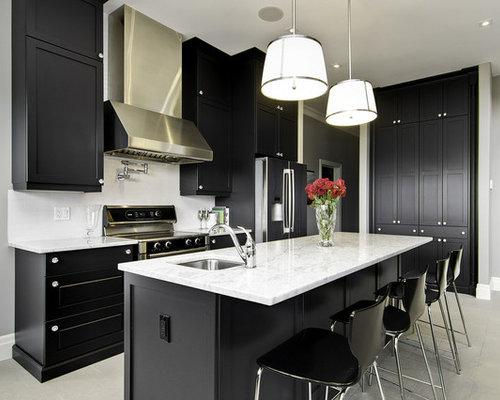 black kitchen houzz