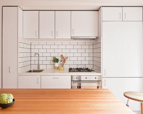 Above kitchen island lighting - White Subway Tile Dark Grout Kitchen Home Design Ideas Pictures
