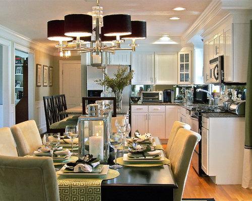 greek kitchen design. Contemporary l shaped eat in kitchen idea Boston with stainless steel  appliances Greek Kitchen Houzz