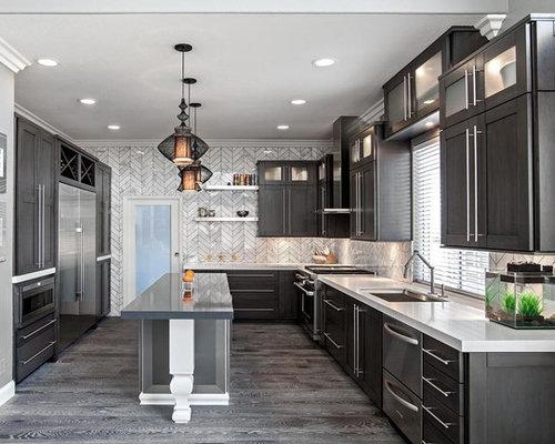 SaveEmail. Preferred Kitchen & Bath - Best Grey Wood Floor Kitchen Design Ideas & Remodel Pictures Houzz