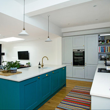 Contemporary kitchen in Tooting