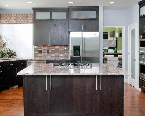 Dark Stained Kitchen Cabinets dark stained cabinets | houzz
