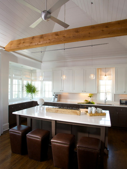 Contemporary Kitchen Idea In Birmingham With Shaker Cabinets And White  Cabinets