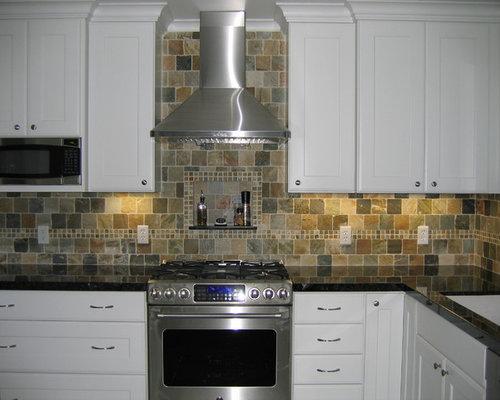Slate Tile Backsplash Home Design Ideas Pictures Remodel