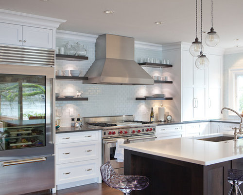 Open Shelving Range Hood | Houzz