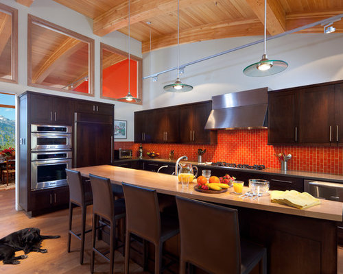 Kitchen Backsplash Orange orange kitchen backsplash | houzz