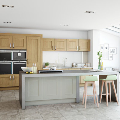 Inspiration for a contemporary kitchen remodel in Other
