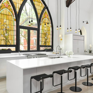 Contemporary kitchen remodeling - Kitchen - contemporary kitchen idea in Chicago