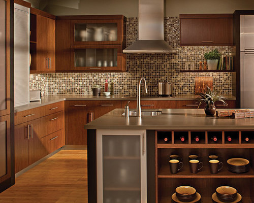 Kitchen design ideas renovations photos with multi for Multi color kitchen ideas