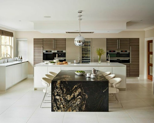 Large Contemporary Eat In Kitchen Ideas   Large Trendy Eat In Kitchen Photo  In