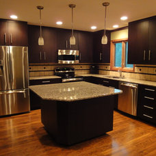 contemporary kitchen cabinets by Northland Woodworks Inc
