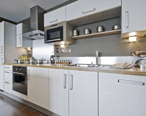 Contemporary White Kitchen Home Design Ideas