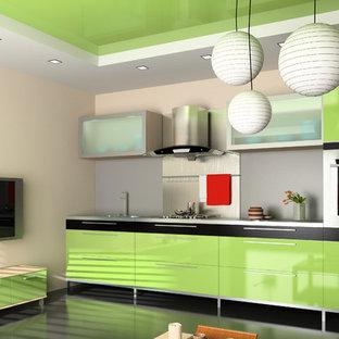 Contemporary Kitchen - Palma Cabinets with Quartz Counter Top