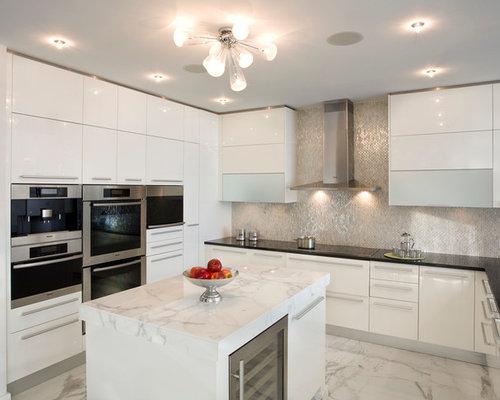 Kitchen Backsplash Silver silver backsplash   houzz