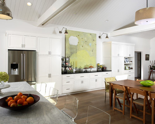 Trendy Kitchen Photo In San Francisco With Shaker Cabinets And Stainless  Steel Appliances