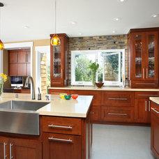 Contemporary Kitchen by Precision Cabinets