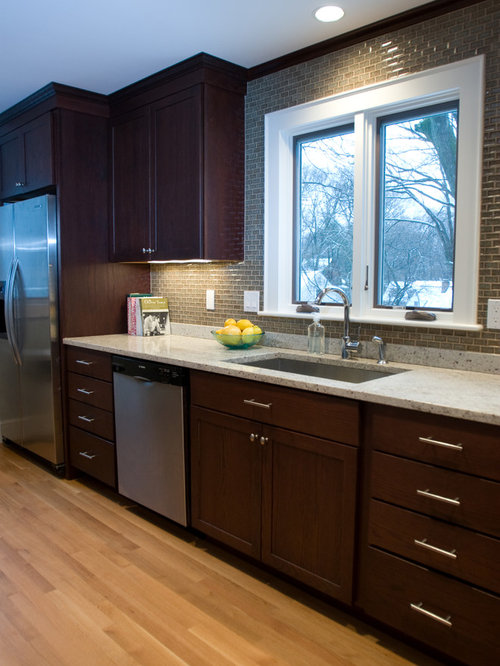 Inspiration For A Contemporary Kitchen Remodel In Other With Stainless  Steel Appliances, An Undermount Sink