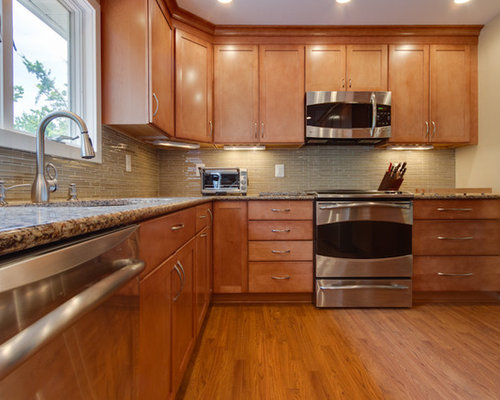 Contemporary Kitchen Remodel Maple Toffee