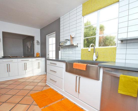 Peach Kitchen peach kitchen | houzz